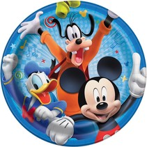 "***Disney Mickey Roadster Round 9"" Dinner Plates, 8ct"