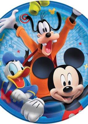 "***Disney Mickey Roadster Round 9"" Dinner Plates, 8ct"