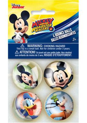 ***Disney Mickey Roadster Bounce Balls, 4ct