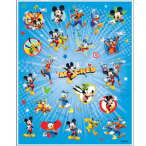 ***Disney Mickey Roadster Sticker Sheets, 4ct