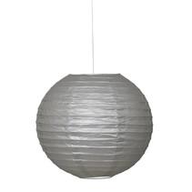 """*Silver Solid 10"""" Round Lantern"""