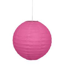 """*Hot Pink Solid 10"""" Round Lantern"""