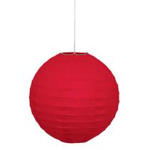 "*Ruby Red Solid 10"" Round Lantern"