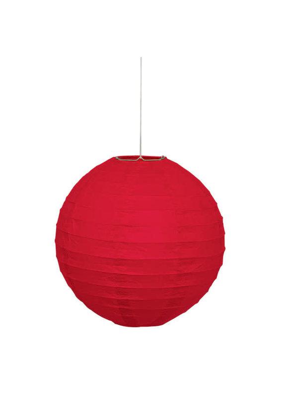 "***Ruby Red Solid 10"" Round Lantern"