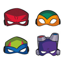 *Rise of the TMNT Party Masks, 8ct
