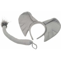 ***Elephant Headband and Tail Set