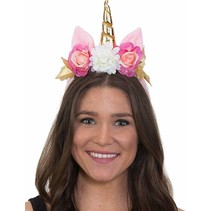 ***Unicorn Headband with Flowers