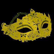 ***Gold Lace Metal Fleur Di Lis Mask