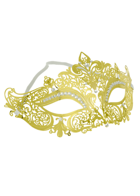 Jacobson Hat Company ***Gold Lace Metal Fleur Di Lis Mask