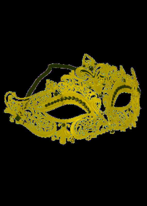 Jacobson Hat Company ***Gold Lace Metal Fleur Di Lis Mask