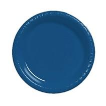 "***Navy Blue 7"" Plastic Dessert Plates 20ct"