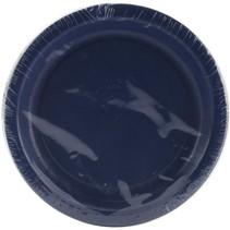 "***Navy Blue 7"" Paper Dessert Plates 24ct"