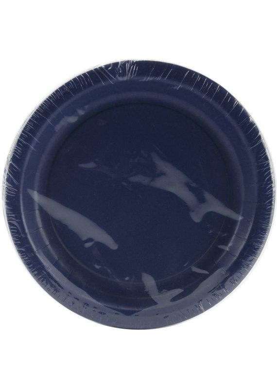 "****Navy Blue 7"" Paper Dessert Plates 24ct"