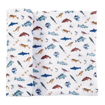 ***Muslin Fishing Swaddle Blanket