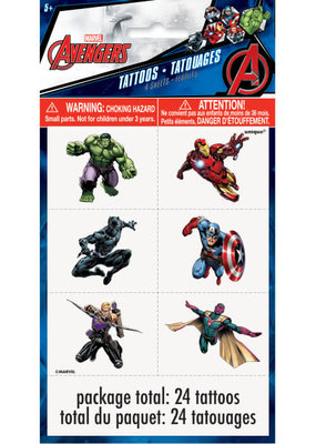 ***Avengers Color Tattoo Sheets, 4ct