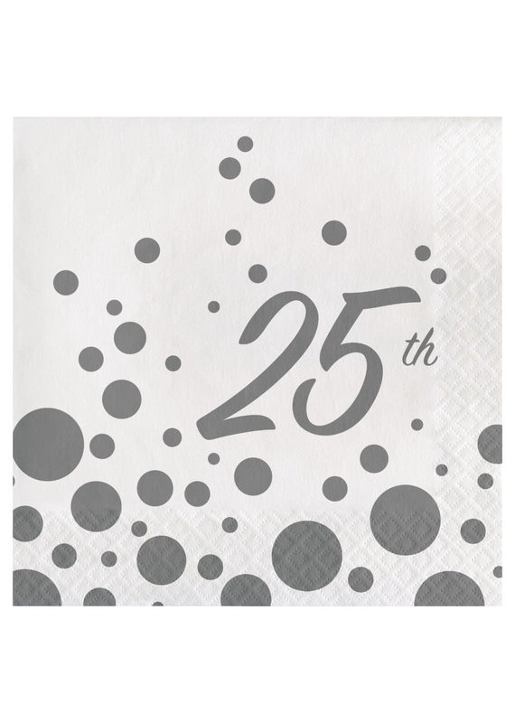 ****Sparkle Shine 25th Lunch Napkins