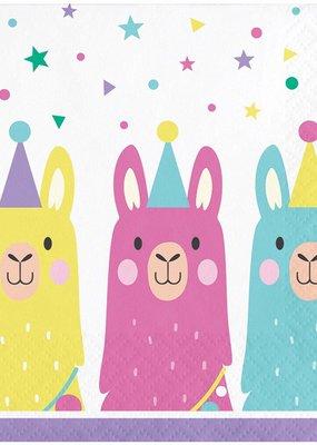 *Llama Party Beverage Napkins