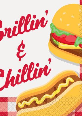 ***Burger BBQ Luncheon Napkins, 16ct