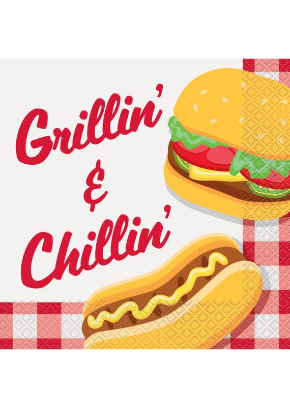 ****Burger BBQ Luncheon Napkins, 16ct