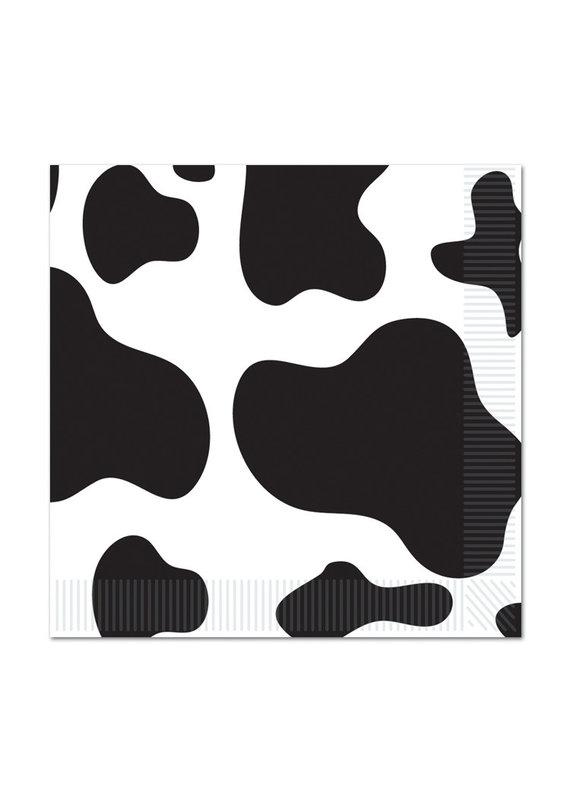 ****Cow Print Beverage Napkins 16ct