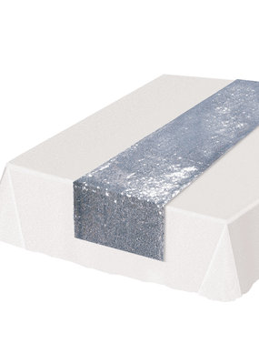 ***Silver Sequined Table Runner