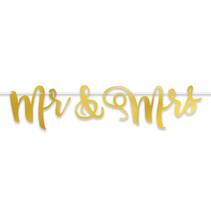 *Mr & Mrs Foil Streamer