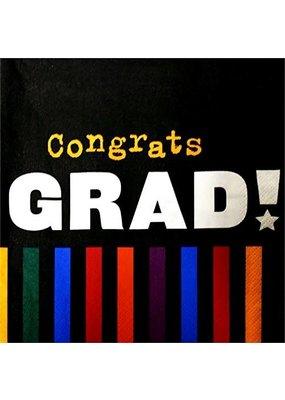 ***Congrats Grad Caps & Colors Lunch Napkin