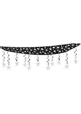 ***The Stars Are Out Ceiling Decoration Silver & Black