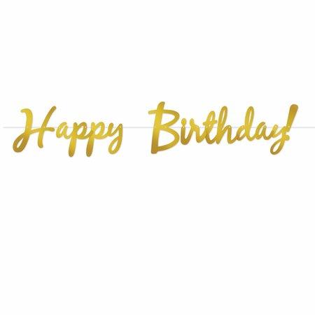 *Gold Happy Birthday Foil Streamer