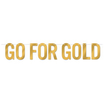 ***Go For The Gold Foil Banner