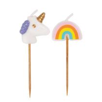 ***Unicorn Rainbow Pick Birthday Candles