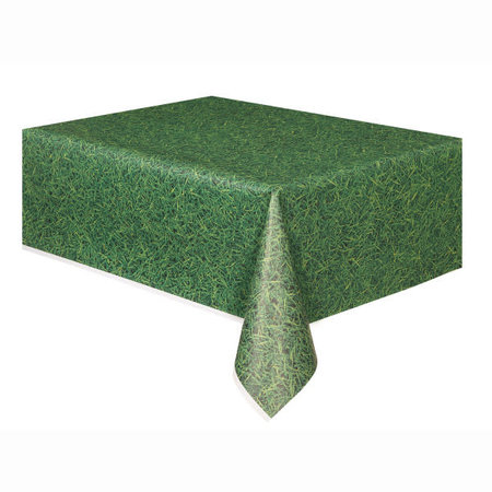 *Green Grass Plastic Table Cover