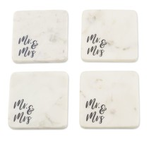 ***Mr & Mrs Marble Coaster Set