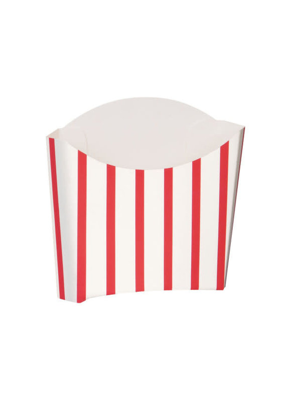 ****Red White French Fry Snack Containers, 8ct