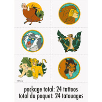 ***Disney Lion King Tattoos, 24ct