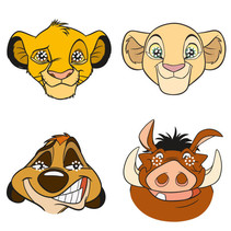 ***Disney Lion King Party Masks, 8ct