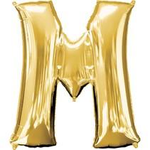 "***Gold Letter M Balloon 33"" Tall"
