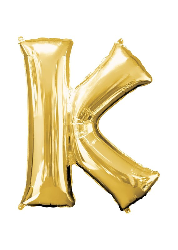 "***Gold Letter K Balloon 33"" Tall"