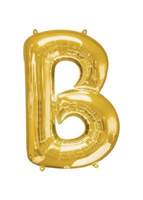 """***Gold Letter B Balloon 34"""" Tall"""