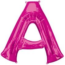 "***Hot Pink Letter A Balloon 34"" Tall"