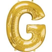 """***Gold Letter G Balloon 32"""" Tall"""