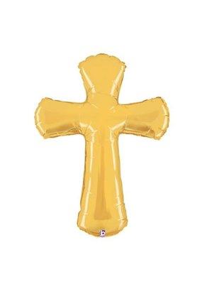 ***Gold Cross Shape Jumbo Balloon
