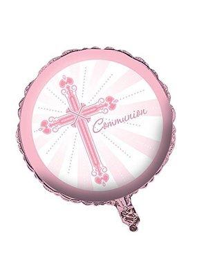 "****Blessings Pink Communion 18"" Mylar Balloon"