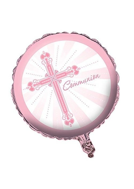 "****Blessings Pink Communion 18"" Mylar Balloon"