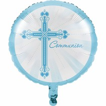 "***Blessings Blue Communion 18"" Mylar Balloon"