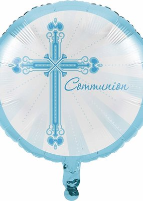 """***Blessings Blue Communion 18"""" Mylar Balloon"""