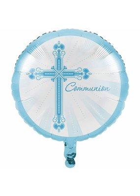 """****Blessings Blue Communion 18"""" Mylar Balloon"""