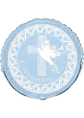 "****Blue Dove Communion 18"" Mylar Balloon"