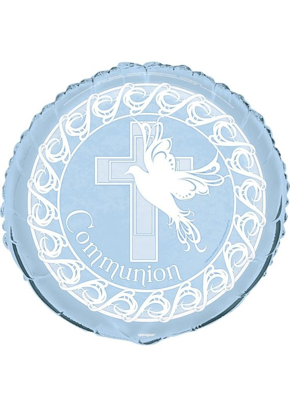 "****Blue Dove Communion 18"" Mylar Balloon"