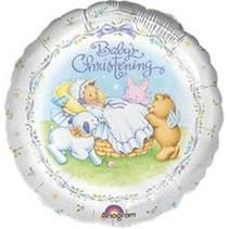 "***Baby's Christening 18"" Mylar Balloon"
